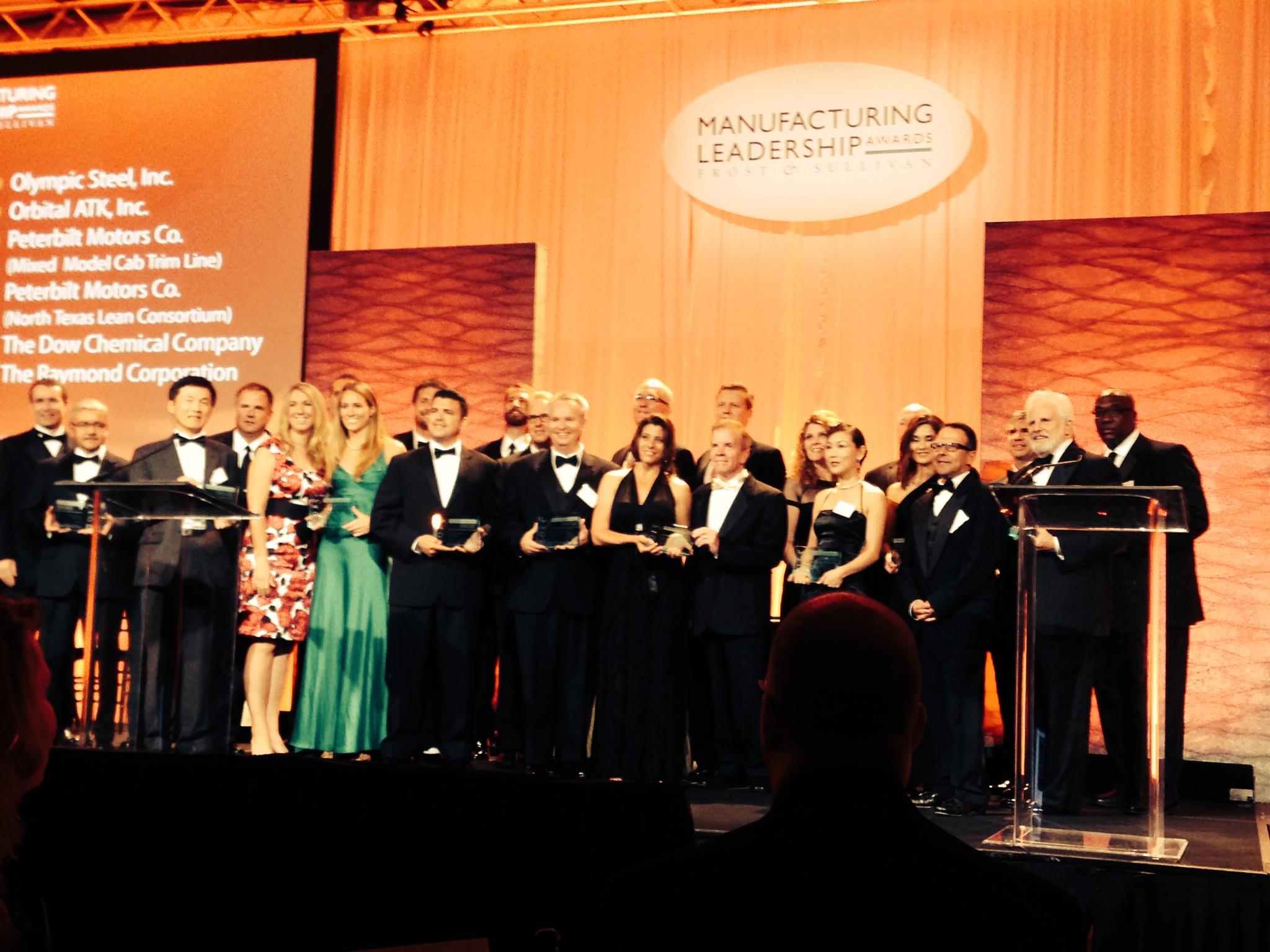 Frost&Sullivan Manufacturing Leadership Awards photo