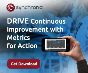 Drive continuous improvement with manufacturing metrics for action