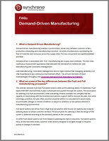 Demand-Driven Manufacturing questions
