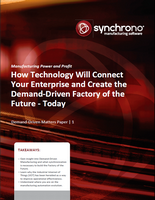 White paper on factory of the future manufacturing technology