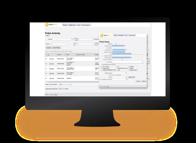 SyncAlert screen