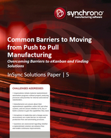 eKanban white paper reviews issues to be addressed in moving to pull-based manufacturing