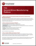 demand-driven manufacturing platform FAQs