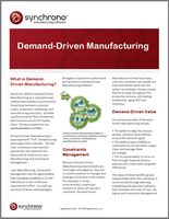What is demand-driven manufacturing?