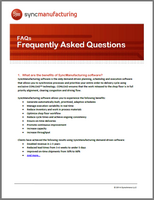 Synchrono manufacturing scheduling software FAQs