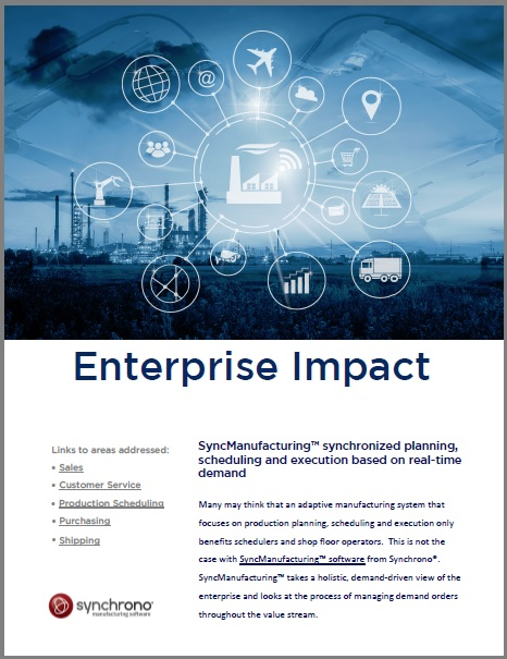 white paper: impact of synchronized manufacturing planning, scheduling and execution