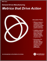Manufacturing operations metrics that drive action