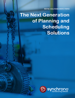 Next generation of manufacturing planning and scheduling systems