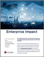 Enterprise impact of syncmanufacturing software