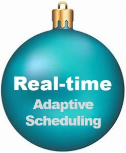 Real-time adaptive scheduling