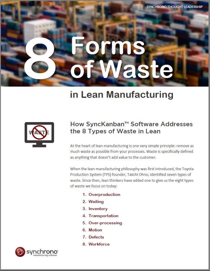 8 forms of waste