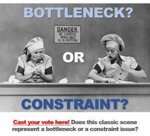 Production bottleneck or manufacturing constraint
